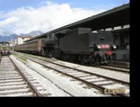 Il treno a vapore nelle Dolomiti con la FS GR740.038