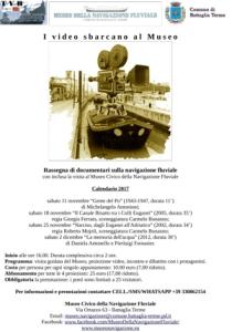 I video sbarcano al Museo Civico della Navigazione Fluviale